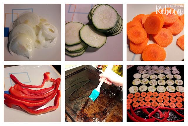 Cómo asar verduras en el horno