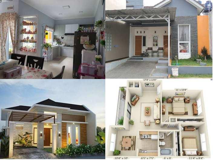 Inspirasi rumah minimalis Type 45 dengan Batu Alam