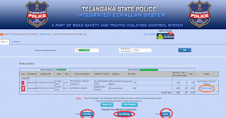 List of Pending Traffic E Challans