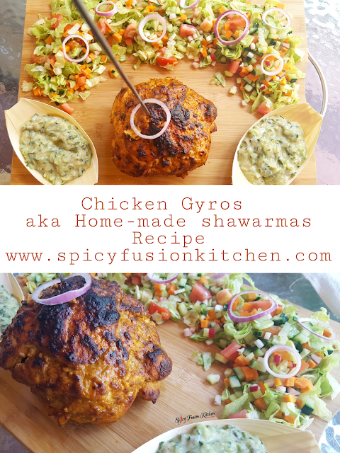 chicken gyros, chicken doner kebab, chicken shawarma, shawarma, chicken gyros recipe, chicken gyros pictures, chicken shawarma recipe, chicken shawarma pictures, food pictures, food recipe, spicy fusion kitchen, spicy food, pinterest food, sunday lunch, recipe, home-made food, food stylist, food blog, food blogger, TZATZIKI sauce, TZATZIKI pictures, rotating meat, street food, middle east food, turkey food, greek food, salad, salad pictures, paratha, chicken recipe,