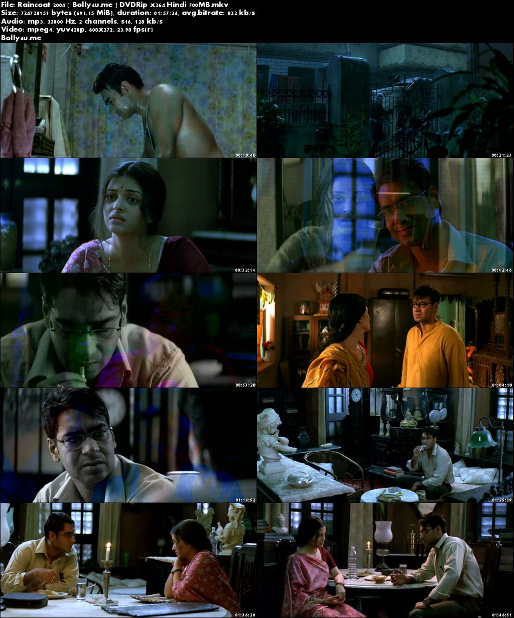 Raincoat 2004 DVDRip 700MB Full Hindi Movie Download x264