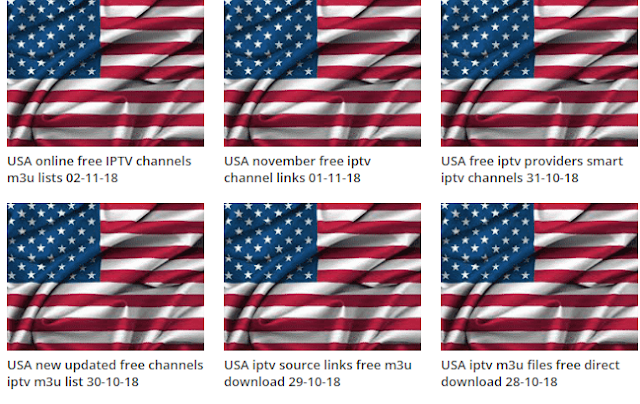 USA weekend updated free iptv channel links 03-11-18