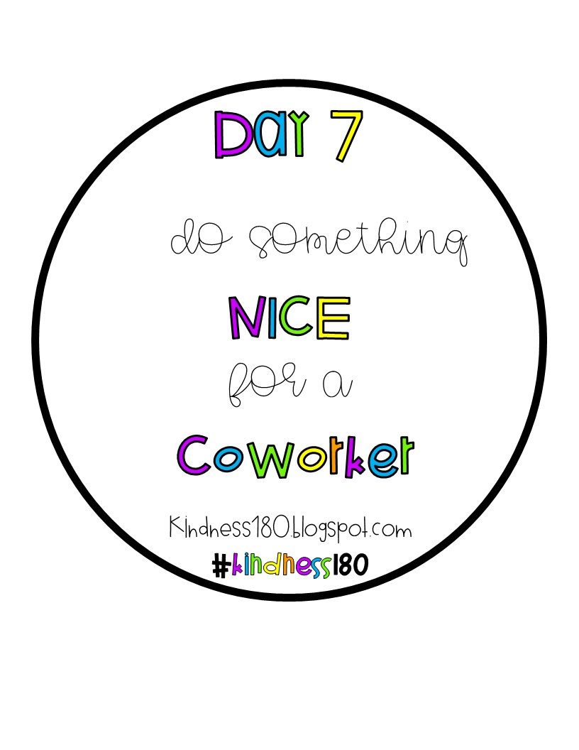 Kindness180: Do Something Nice for a Coworker