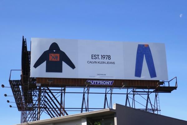 Calvin Klein Jeans Est 1978 billboard