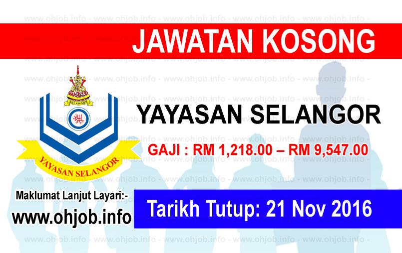 Jawatan Kerja Kosong Yayasan Selangor logo www.ohjob.info november 2016 selangor