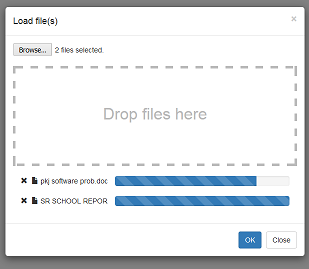 Drag & Drop File Upload Dialog with jQuery and Bootstrap