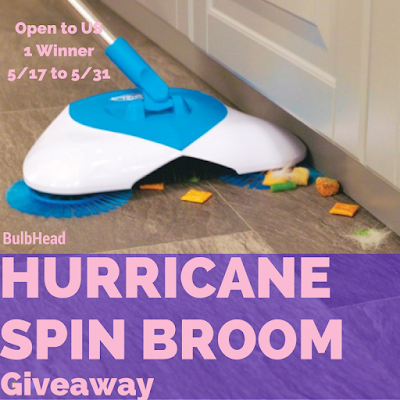 Enter the Hurricane Spin Broom Giveaway. Ends 5/31