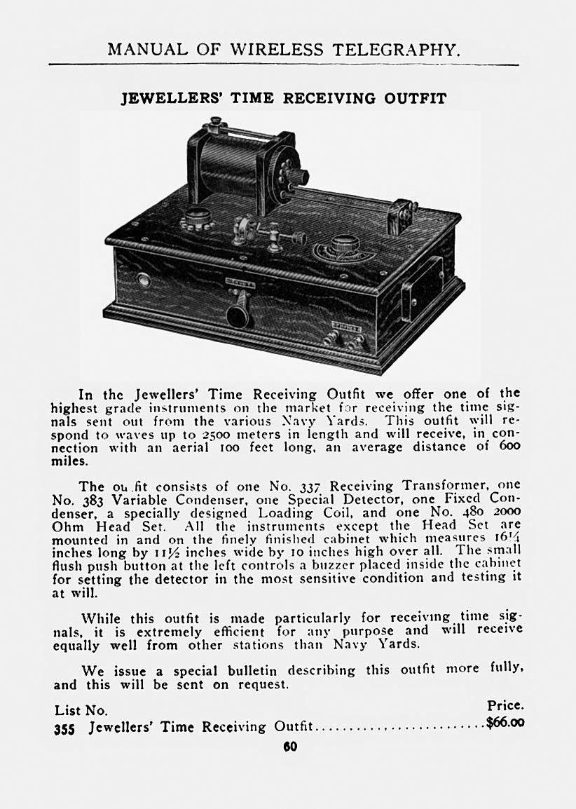 Early Radio: Manual of Wireless Telegraphy 1915
