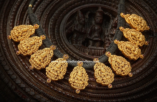 Lakshmi Pendants Dori Necklace