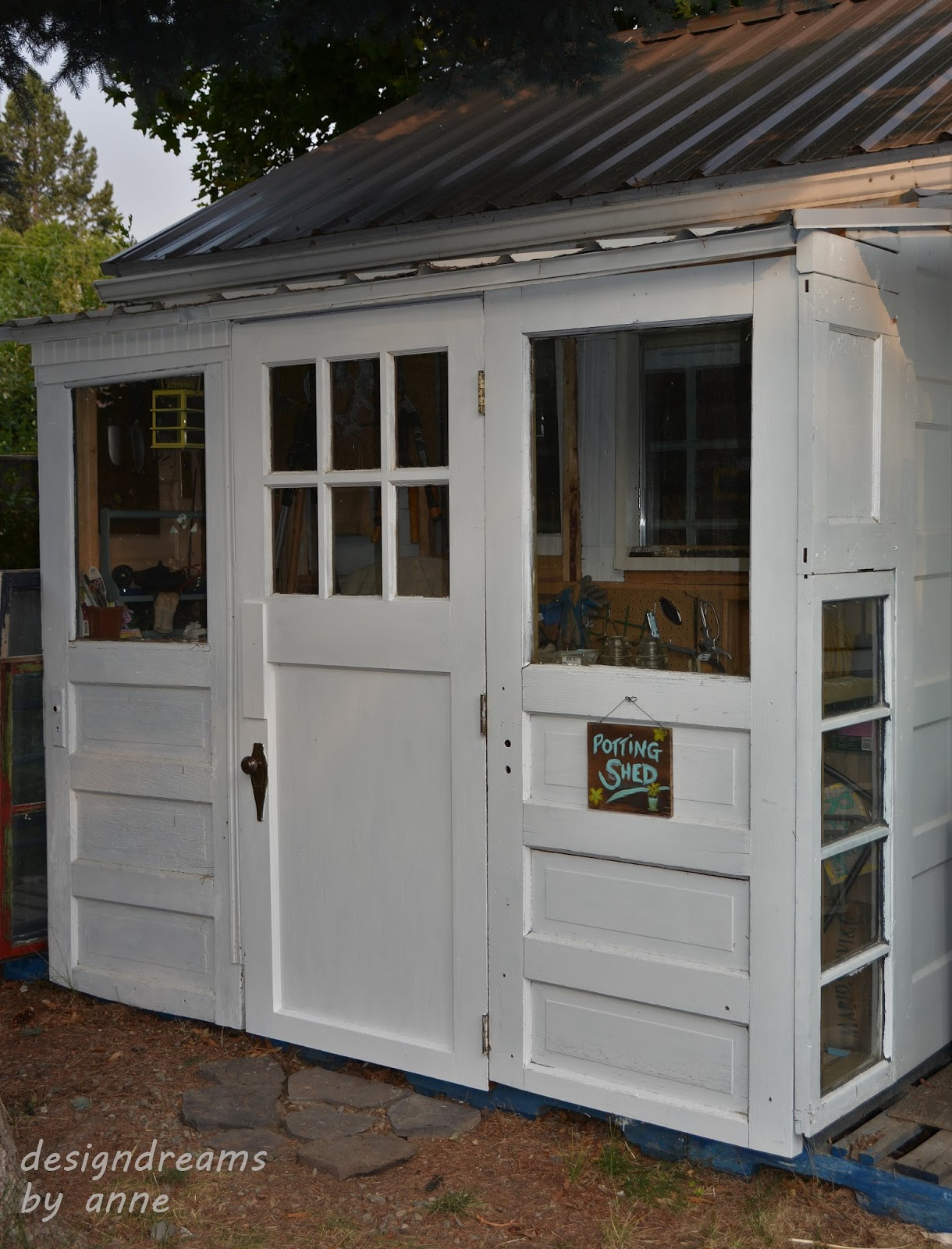 building a shed with old doors - Garden Sheds With Windows