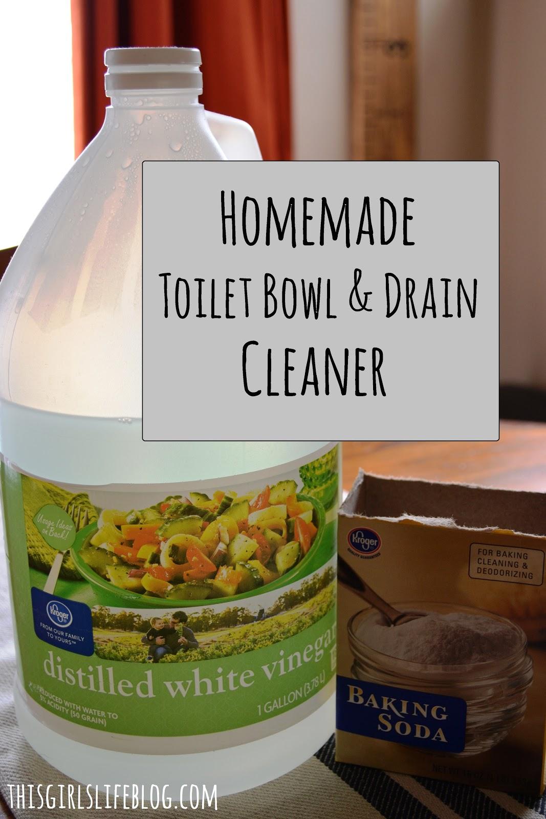 Homemade Toilet Bowl & Drain Cleaner - This Girl's Life Blog