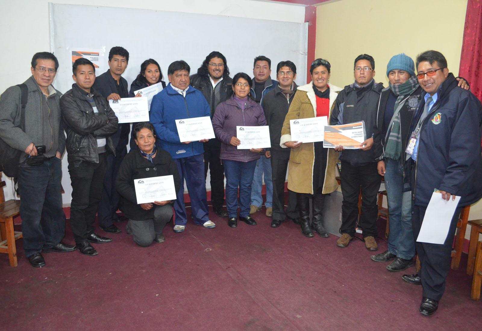 El seminario desarrollado en El Alto fue certificado para los participantes