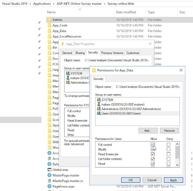 SQL Server - Octroyez les droits d'accès à un répertoire