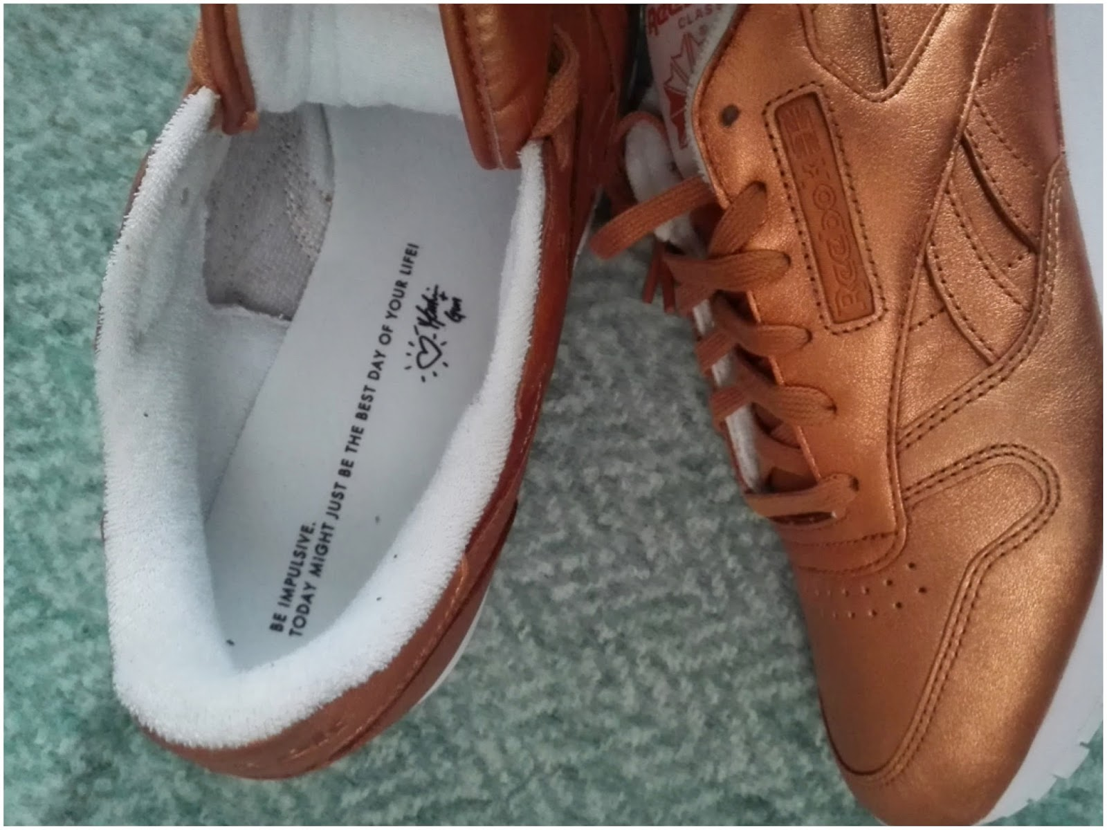 Simply pebs: Reebok Classic Copper
