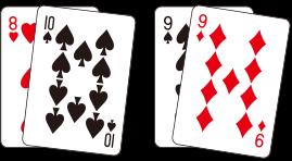 플레이어와 딜러의 카드 합이 같은 경우를 말함. 서로 비기게 되어 베팅금액은 반환된다.