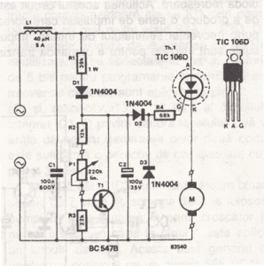 Rotative Speed Controller Circuit for Borer, Driller