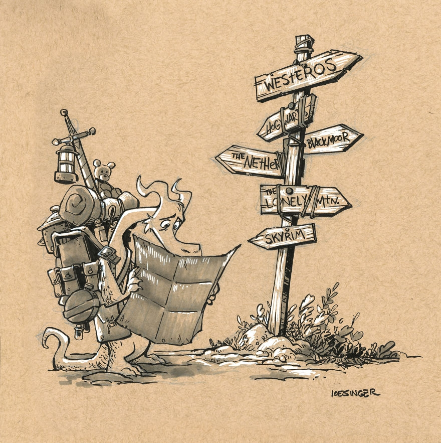 03-Cole-the-Diminutive-Brian-Kesinger-Drawings-that-Show-the-Kinder-Side-of-Dragons-www-designstack-co