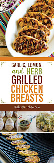 Garlic, Lemon, and Herb Grilled Chicken Breasts found on KalynsKitchen.com