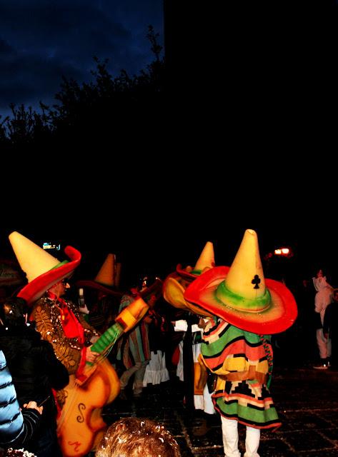 maschere, gente mascherata, messicani, carnevale,