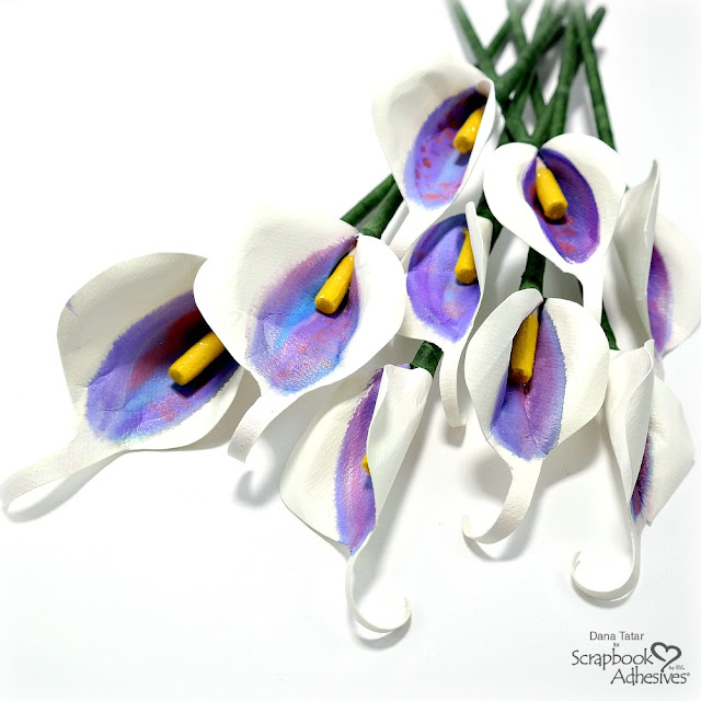 DIY Paper Calla Lily Bouquet