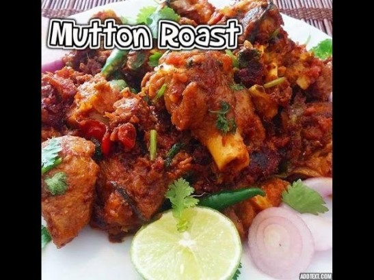 mutton pepper roast
