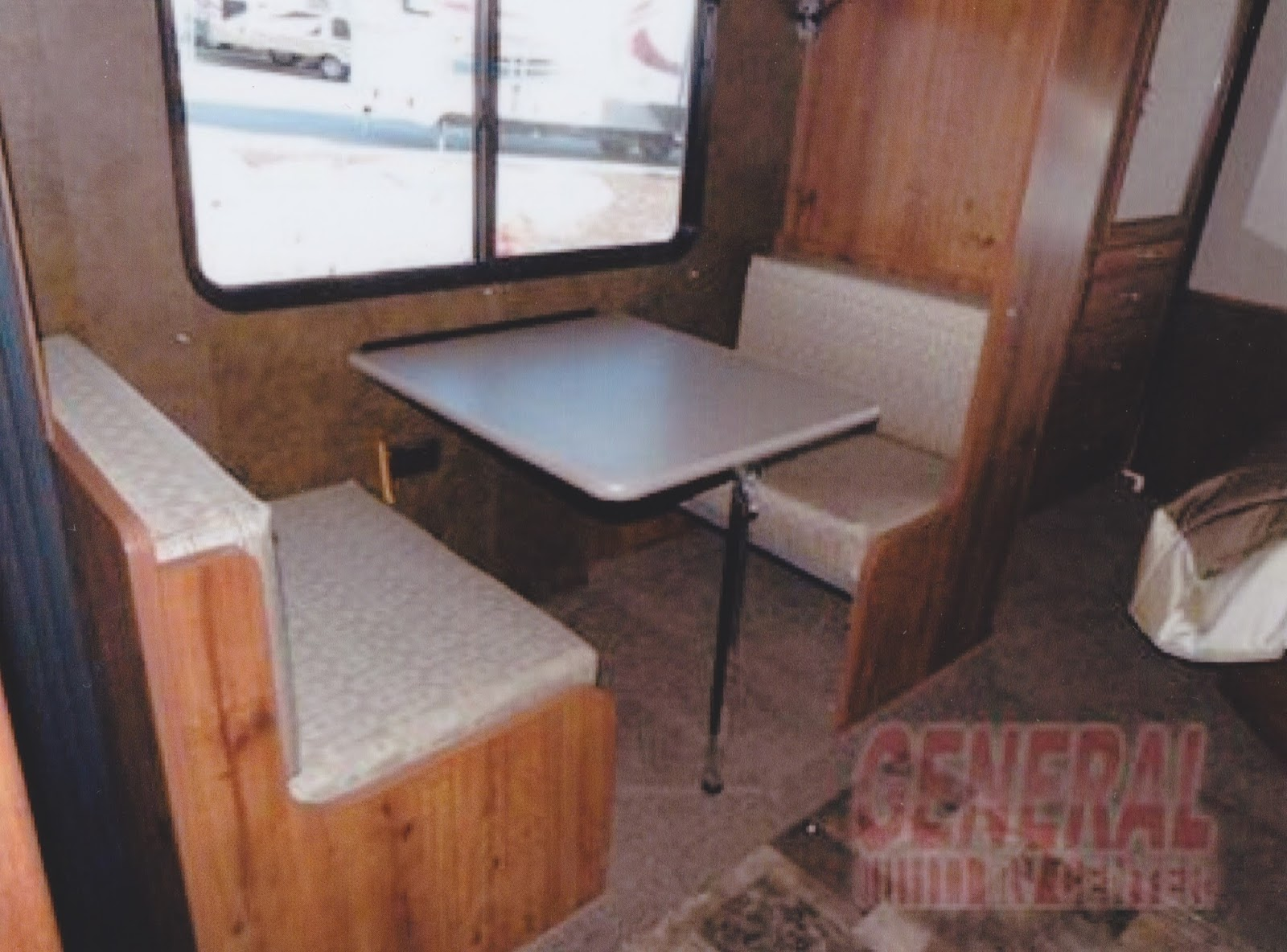 Fabulous Here is the second dinette which converts to a set of bunk beds Below you see the upper bunk with the dinette still set up below however