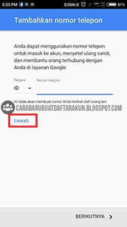 daftar gmail tanpa no hp