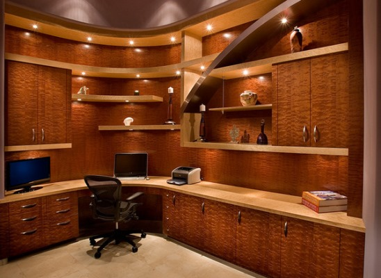 27 Awesome Custom Home Office Furniture: custom home office design