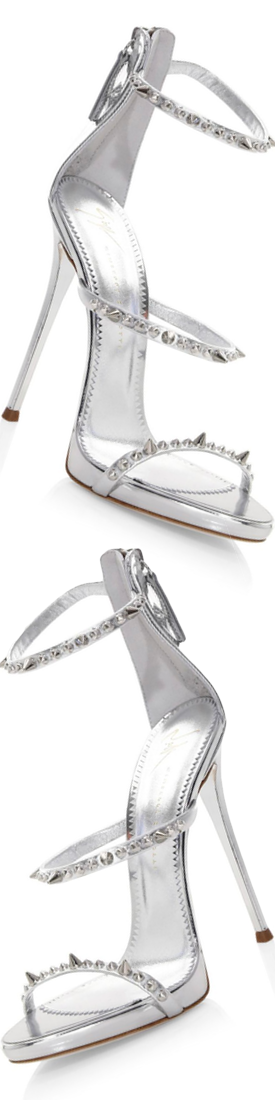 Giuseppe Zanotti Metallic Leather Stud Stilettos