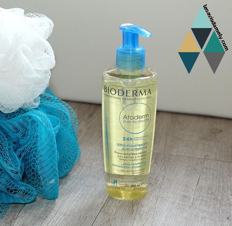 huile de douche pour peaux fragiles non agressif