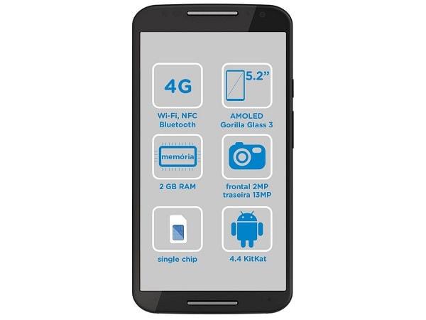 Moto X 2ª geração memória interna de 16/32 GB