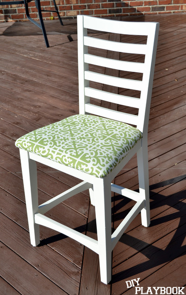 Reupholstered kitchen stool