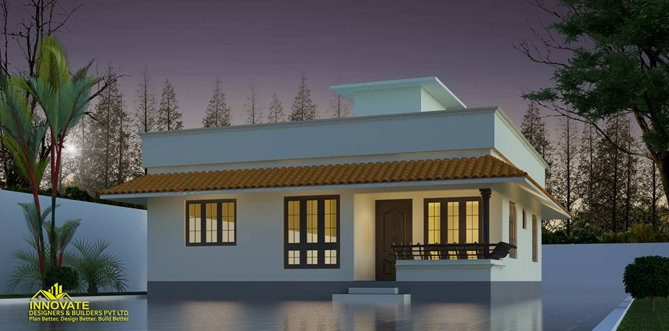 3 Bedroom Low Cost Home Design In 1073 Square Feet With