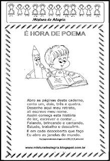 Volta às aulas- poema para imprimir