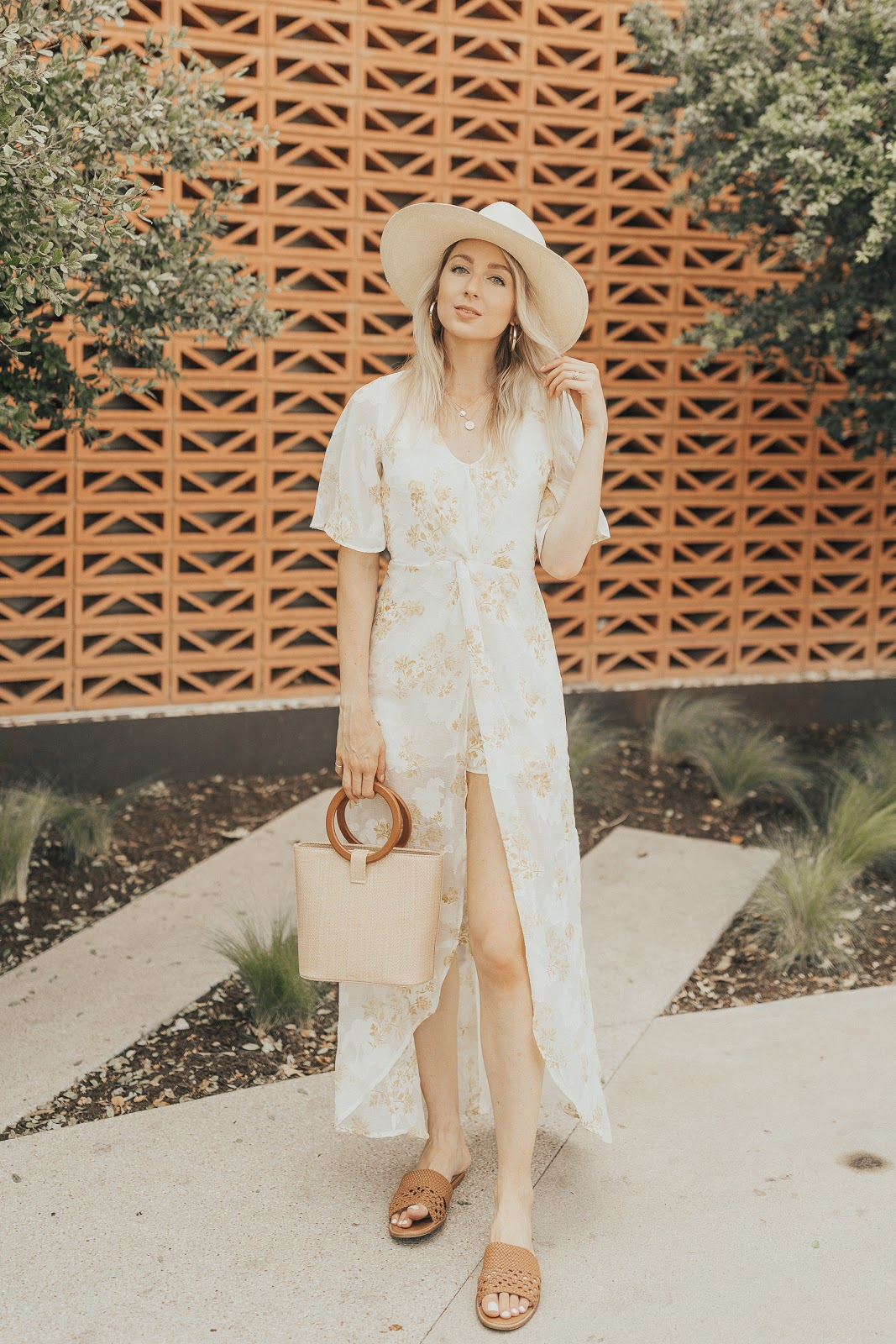 cute maxi romper under $100 - outfit idea for bridal shower or engagement pictures