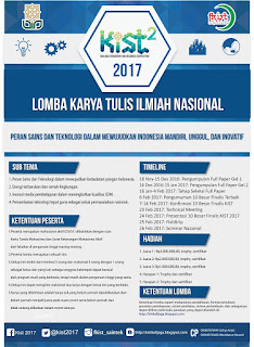 Lomba Karya Tulis Ilmiah Nasional KIST 2 (Kalijaga Innovation and Research Competition)