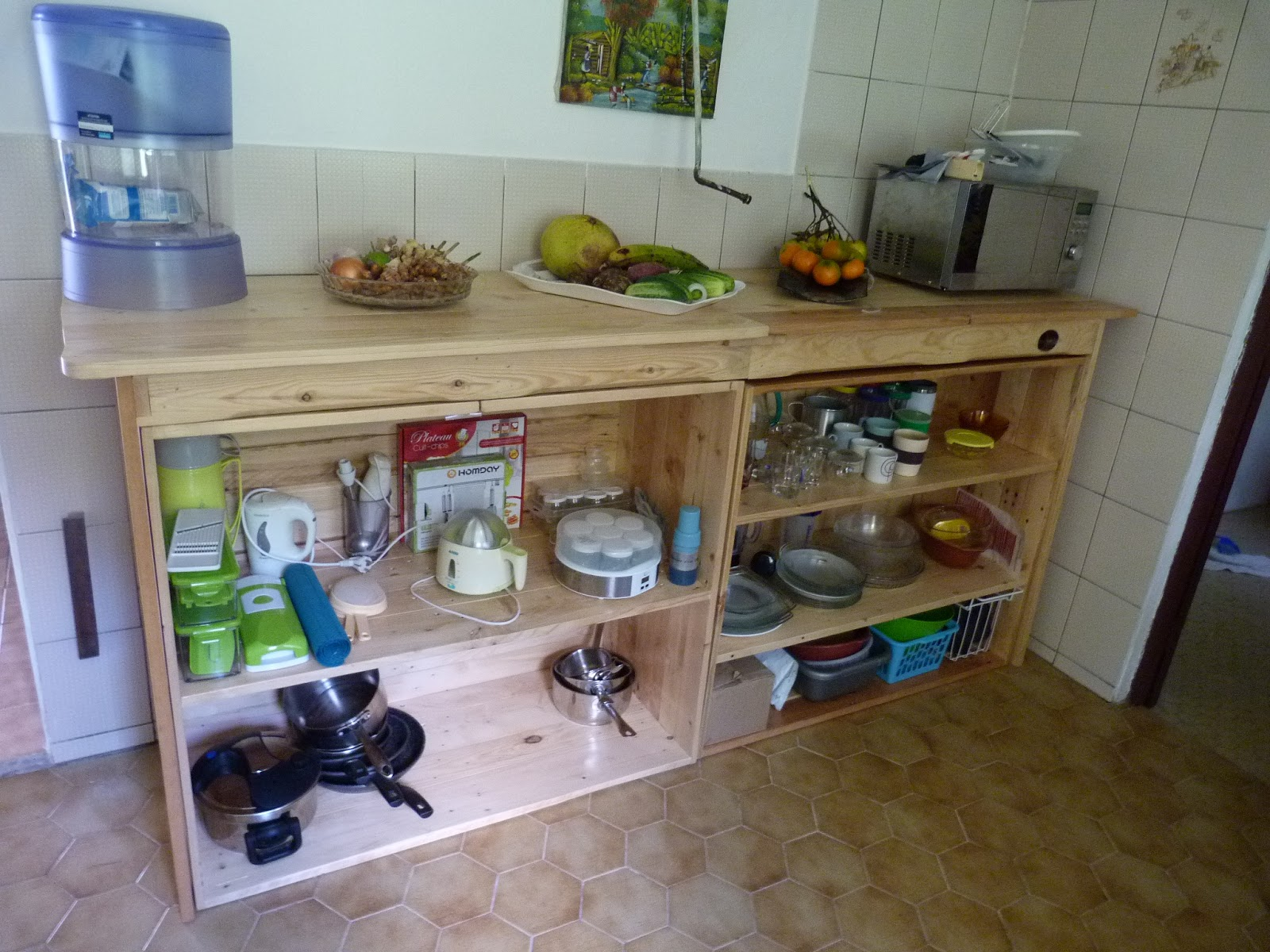 la pince en palette suite d 39 un ameublement de cuisine. Black Bedroom Furniture Sets. Home Design Ideas