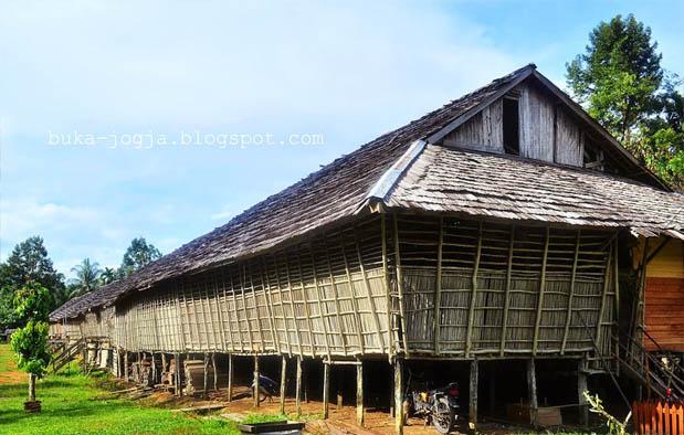 Suku Dayak merupakan suku mayoritas yang tersebar di seluruh Pulau Kalimantan Rumah Adat Kalimantan Barat, Nama, Gambar, dan Penjelasannya