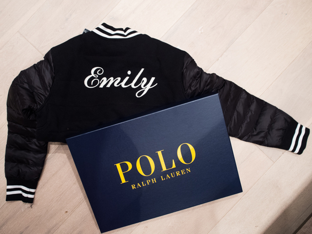 Polo Ralph Lauren Personalised bomber jacket