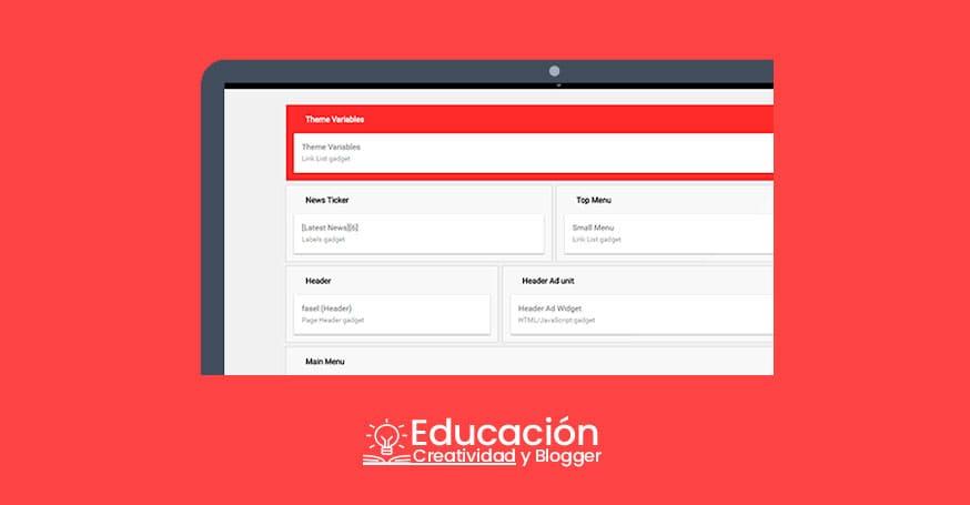 Plantilla Blogger 2019 profesional gratis administracion