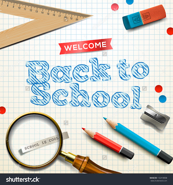 Wele Back To School Vector Illustration