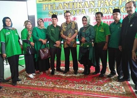 Lantik Pengurus PAC PPP se-Kota Padang, Esa: Kader Harus Bekerja Memenangkan Cakada yang Diusung
