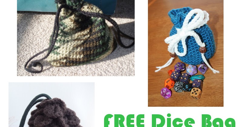 WoollyRhinoCrafts: A Bunch Of FREE Dice Bag Patterns I Found On The ...