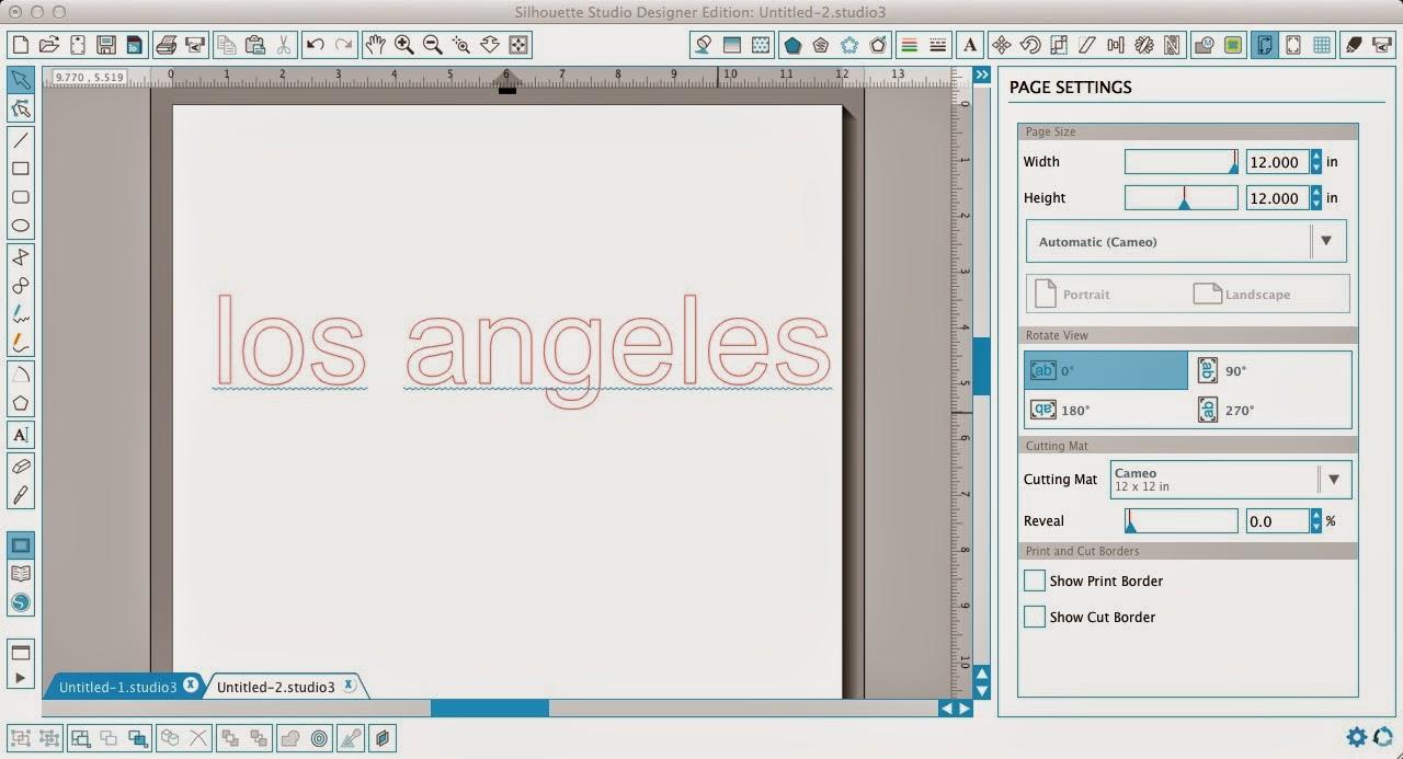 Silhouette Studio, blue line, spell check, Silhouette tutorial