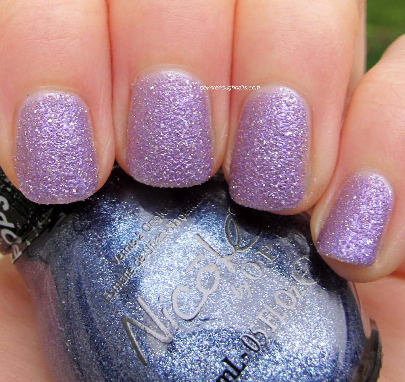 d79422eed70e Color  three coats Nicole by OPI I Lilac Gumdrops Top  none (unless  otherwise indicated) Application  good (out of poor