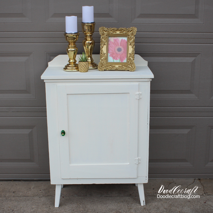 Doodlecraft DIY Shabby Chic Furniture Cabinet