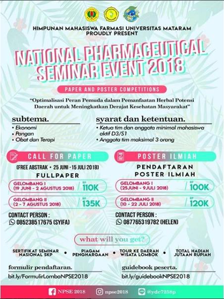Lomba LKTIN Pharmaceutical Unram 2018