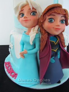 Frozen disney elsa anna sugar paste