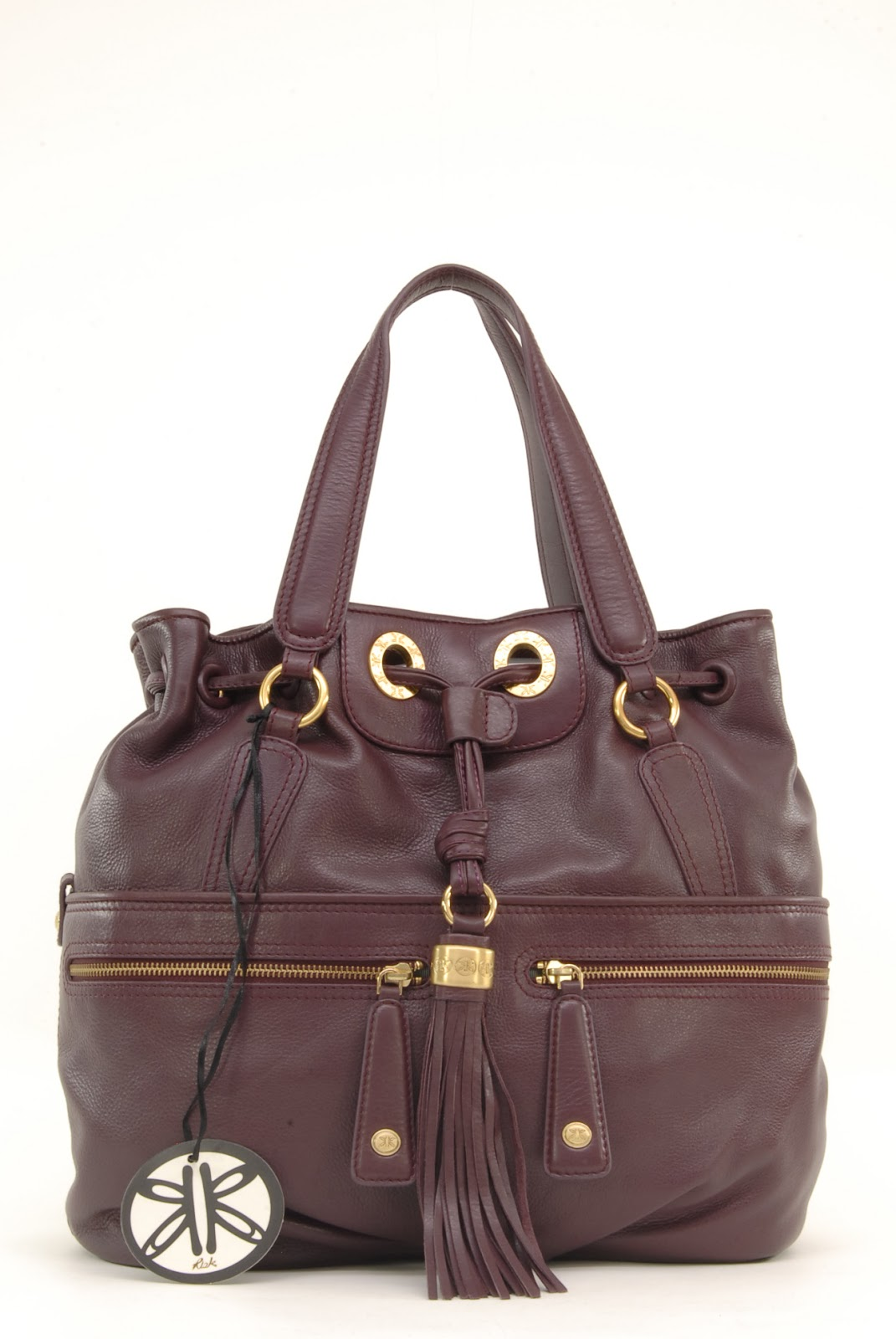 67eb74fb3182 Who can resist Jerri  a fabulous large drawstring tote bag made from delicious  purple cherry leather