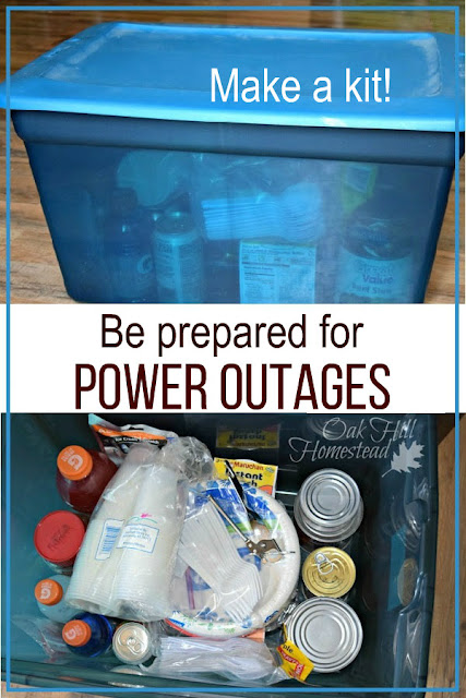 How to make a kit for possible power outages.